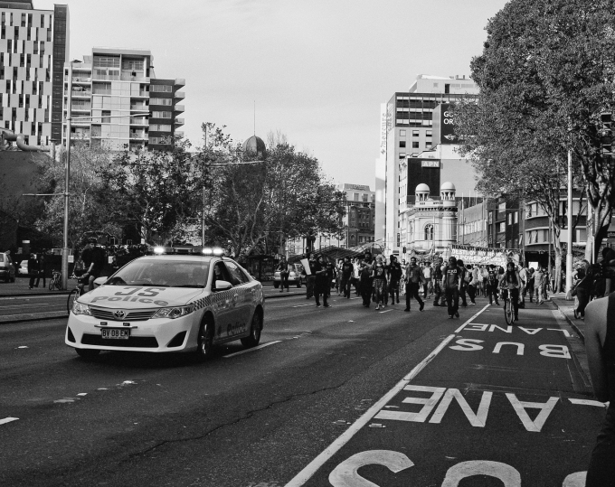 Sydney 2014. Budget Protest.